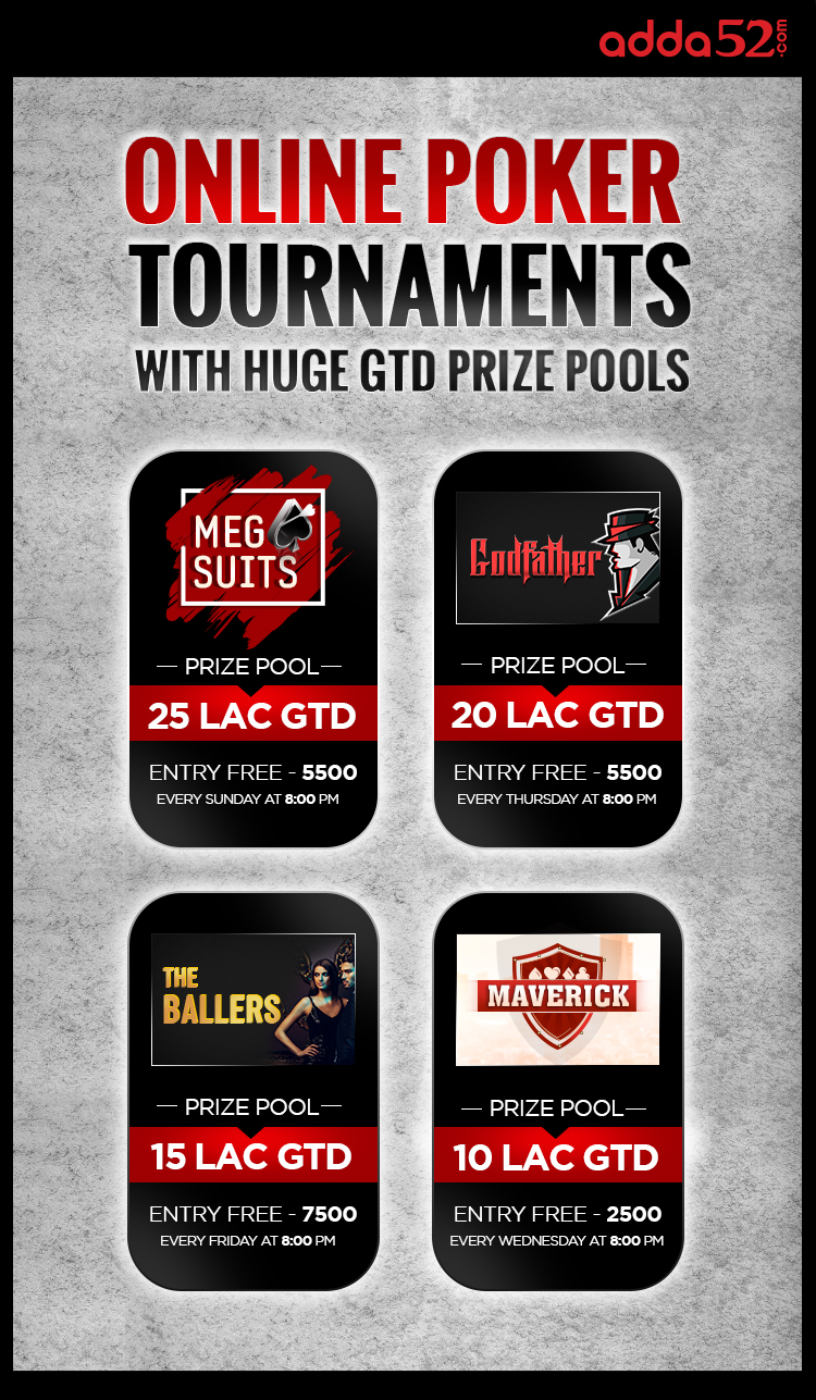 Online Poker Tournaments With Huge GTD Prize Pools